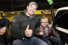 Two Thumbs Up! Chris Pratt and His Son Jack Enjoy a Boys' Night Out at Motorsport Event