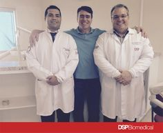 Prof. Dr. Rodrigo Bonacin, Eng. Célio Netzel (CEO Dsp Biomedical), Prof.Msc Ricardo Toscano (Diretor cientifico DSP Biomedical)
