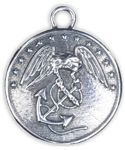 Marine Corps Button - .925 sterling silver button with USMC inscribed on it.