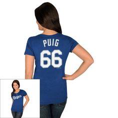 Women's Majestic Los Angeles Dodgers Yasiel Puig Tee $8.40