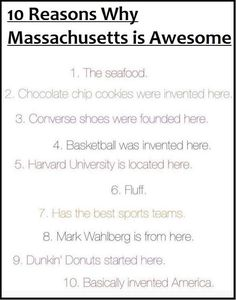 Top 10 Reasons Massachusetts is Awesome