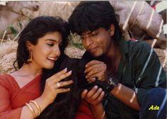 Shah Rukh Khan and Raveena Tandon - Zamaana Deewana (1995)