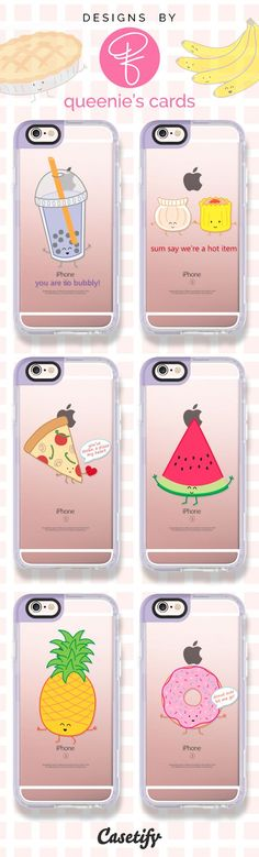 Good Food = Good Mood. Shop these adorable food phone cases designed by @queeniescards here >>> https://www.casetify.com/queeniescards/collection | @casetify