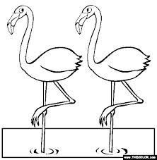 Free Bird Coloring Pages Color In This Picture OfTwo Flamingos And Others With Our Library Of Online
