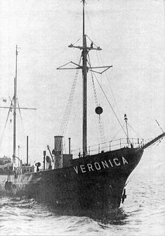 The Borkum Riff, the first Radio Veronica ship (from 'Offshore Echoes' magazine no.48, July 1983)
