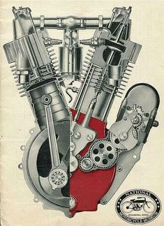 The Indian F-head motor. Triumph Motorcycles, Indian Motorcycles, American Motorcycles, Cool Motorcycles, Vintage Motorcycles, Logos Vintage, Vintage Bikes, Motorcycle Posters, Motorcycle Style
