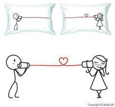 "Romantic Valentine's day gift ideas for him 2014 - BoldLoft ""Say I love you"" couple pillowcase - http://www.urbanewomen.com/romantic-valentines-day-gift-ideas-for-him-2014.html"