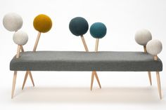 Pin sofa by Demeter Foragasi, sponsor by Kvadrat  http://www.archipanic.com/the-new-textile-furniture/