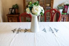 Table Cloth French Maison Cream 3 x 1.5m