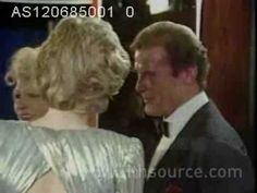 Charles & Diana attend charity premiere of new Bond film 'A View to a Kill' in aid of British Deaf Association & The Prince's Trust. Diana meets Duran Duran and Roger Moore. 12.6.85