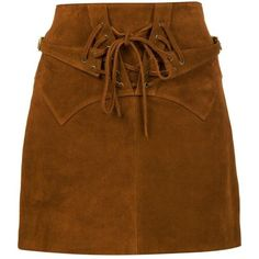 Faith Connexion 'Noisette' mini skirt ($1,145) ❤ liked on Polyvore featuring skirts, mini skirts, bottoms, brown, saia, faith connexion, brown mini skirt, mini skirt, brown skirt and leather miniskirt