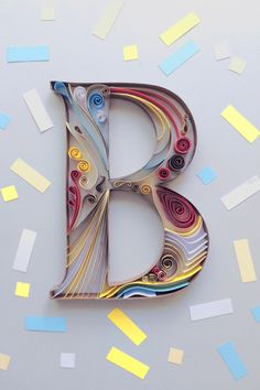 B design, typography and paper | © Alex Cuesta 2016 #Typography #Paper #Craft #Quilling