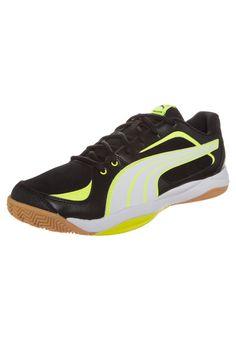 Puma BALLESTA - Handballschuh - black/white/fluro yellow - Zalando.de #PU142A07S-Q11 #Puma #null #schwarz #black #handball #indoor #halle #schuhe #stabil - Handball spielen - Handball spielen