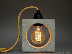 Lamp, Lamp, Concrete, Concrete, Bu … - All For Lamp İdeas Concrete Light, Concrete Lamp, Beton Design, Concrete Design, Design Design, Concrete Crafts, Concrete Projects, Cool Lighting, Lighting Design