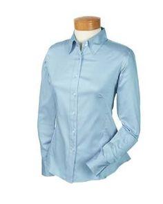 Devon & Jones Pink Women's Long Sleeve Stretch Sateen Blouse Button Down Dress Shirt DP630W Devon & Jones. $7.57