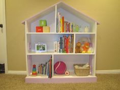 bookshelf dollhouse tutorial