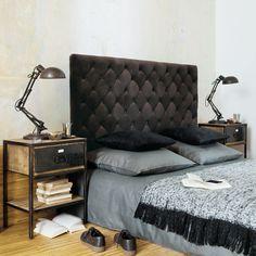 Comodino nero in metallo con cassetto L 45 cm Manufacture | Maisons du Monde