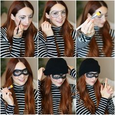 ▷ 1001 + original ideas for a simple and inexpensive Halloween make-up - New Ideas - Halloween Costumes Women Costume Halloween Femme Simple, Robber Halloween Costume, Mode Halloween, Homemade Halloween Costumes, Easy Costumes, Toddler Halloween Costumes, Costumes For Teens, Halloween 2019, Easy Halloween