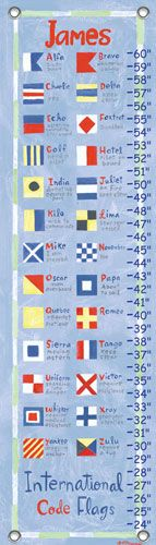 children's growth chart - nautical flags featured at babybox.com