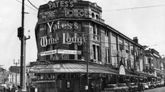 Yates's Wine Lodge, Blackpool long before it was destroyed by fire.Said to have the longest bar in England but I think all the Yates's had long bars!