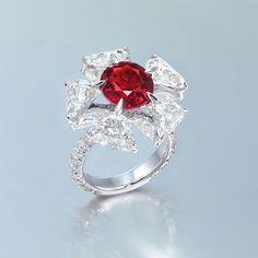 Edmond Chin ruby and diamond ring