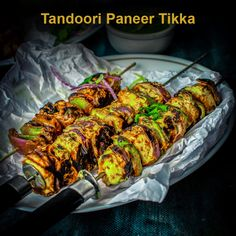 Learn to make Restaurant style Tandoori Paneer Tikka recipe with video instructions in 4 ways using oven, pan, grill and panini maker. A perfect appetizer. Tandoori Recipes, Pakora Recipes, Paratha Recipes, Spicy Recipes, Curry Recipes, Vegetarian Recipes, Cooking Recipes Veg, Halal Recipes, Lunch Box Recipes