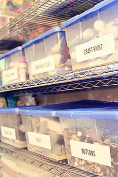 How I organize my craft supplies #diy #organization