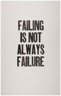 Failing is not always failure. Sometimes it simply puts us on the track we were meant to be on for much greater things!