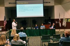 USFSM Looks At How Trump Presidency Might Affect US-Cuba Relations | WUSF News.  Johannes Werner, editor of the Miami-based online business news site Cuba Standard, speaks during the panel discussion at USF Sarasota-Manatee.