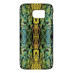 Abstract,+Yellow+Green,+Purple,+Tree+Trunk+Galaxy+S6+Samsung+Galaxy+S6+Hardshell+Case+