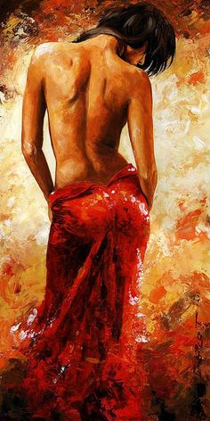 Lady in red 27 by Emerico Toth.