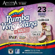 El Sábado rumbita Venezolana de la buena desde las 23:30... Para que no pares de bailar hasta las 06:00. #VenezolanosenEspaña  #venezolanosenmadrid