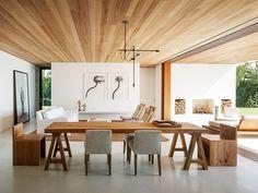 Sala de Jantar com Forro de MAdeira