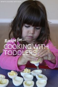 Is it frustrating to cook with your 2-year old? Here's a recipe for Cooking with Toddlers. - What's Cooking with Kids