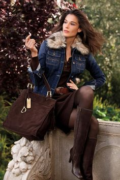 Ralph Lauren 2013  - Chocolate brown suede and jeans best in pair