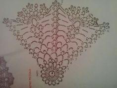 Schema palla Crochet Diagram, Crochet Chart, Thread Crochet, Crochet Motif, Crochet Doilies, Crochet Patterns, Crochet Circles, Crochet Home Decor, Crochet Snowflakes