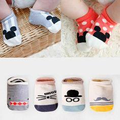 Hot!!! 2017 Super Cute Baby Socks  Cotton Cute Non-slip Boys Girls Newborn Infant Bebe Cartoon Soft Floor Wear