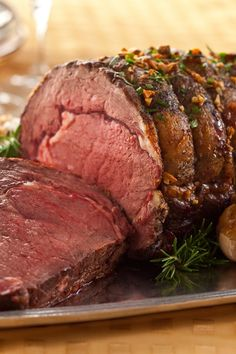 Recipe For Roast Garlic Prime Rib with Horseradish Sauce - Melt in mouth best of the best Prime Rib with a scrumptious Horseradish Sauce!