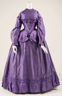 Dress Date: late 1860s Culture: American Medium: [no medium available] Dimensions: [no dimensions available] Credit Line: Gift of The Misses Faith and Delia Leavens, 1941 Accession Number: C.I.41.58.6a–c