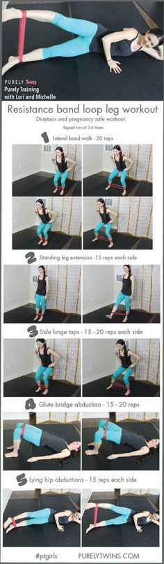Resistance band workout to get strong legs, butt and core. These exercises will … Resistance band workout to get strong legs, butt and core. These exercises will help diastasis and are safe for pregnancy. Best exercises to burn out your lower body using a Best Resistance Bands, Resistance Band Exercises, Core Exercises, Workout Exercises, Leg Band Exercises, Stomach Exercises, Training Exercises, Resistance Workout, Fitness Exercises