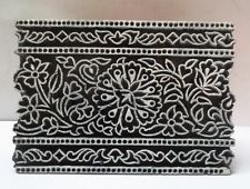 INDIAN WOODEN HAND CARVED TEXTILE PRINTING ON FABRIC BLOCK STAMP FLORAL DESIGN Textiles, Textile Prints, Textile Design, Floral Design, Embroidery Works, Folk Embroidery, Block Printing Designs, Batik Pattern, Rug Inspiration