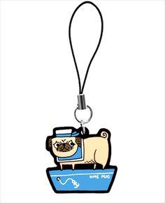 HMS Pug phone charm
