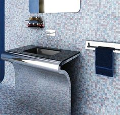 Decoração do lavabo ultra moderno e clean. Visual futurista!