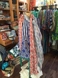 **NEW** Pacific & Rose tunics and scarves. There are so many styles and colors to choose from! They make a great gift and we will even wrap it for you — Available for purchase at Seaside Gallery and Goods in Newport Beach, California
