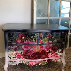 Incredibly Creative Furniture Hacks – Famous Last Words Decoupage Furniture, Funky Furniture, Refurbished Furniture, Upcycled Furniture, Unique Furniture, Vintage Furniture, Floral Furniture, Rehabbed Furniture, Diy Furniture Flip