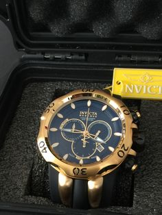 Invicta Reserve 50mm Venom Swiss Made Quartz Chronograph Polyurethane Strap. Model: 10833