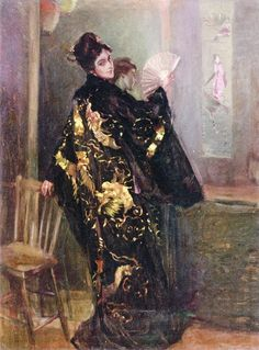 View Woman in a Black Kimono by Alexander Oscar Levy on artnet. Browse upcoming and past auction lots by Alexander Oscar Levy. Woman Painting, Figure Painting, Illustrations, Illustration Art, Arte Fashion, Black Kimono, Portraits, Paintings I Love, Western Art
