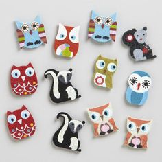 One of my favorite discoveries at WorldMarket.com: Fall Owl Felt Kraft Stickers