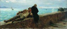 "Ilya Repin, Tramps (1894) "" Ilya Repin, Art History Major, Art Database, Realism Art, Russian Art, Figure Drawing, Art World, Great Artists, Fine Art"