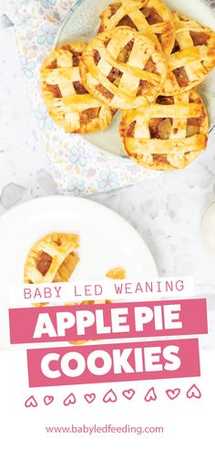 Homemade sweet apple filling with a light and crispy crust.The perfect finger food for baby and toddler hands. Refined sugar free treat that is perfect for baby led weaning snack! Apple Recipes, Baby Food Recipes, Snack Recipes, Dessert Recipes, Dinner Recipes, Desserts, Apple Pie Cookies, Cookie Pie, Baby Led Weaning